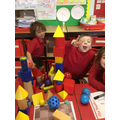 Our 3D shape castle!