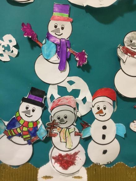 Frosty fun designing our own Snowmen
