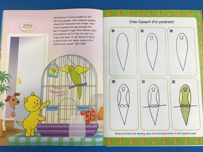 How to draw the parakeet.