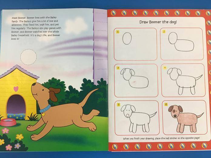 How to draw the dog.