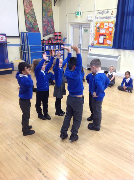 We acted out scenes from the story.