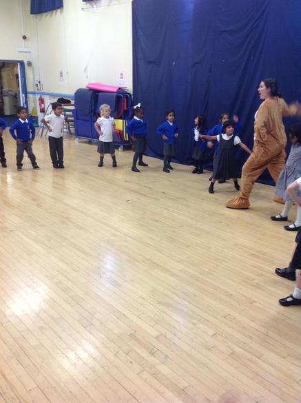 Teddy showed us her favourite dance moves.