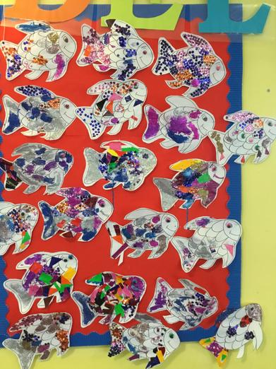 Rainbow fish for world book day