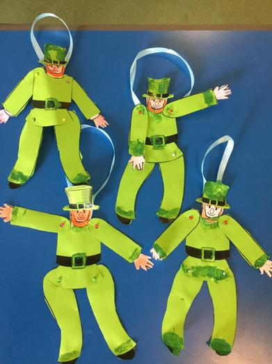 St Patrick's Day, the children made Leprecauns.