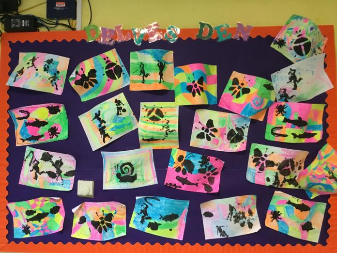 We had fun creating silhouette pictures