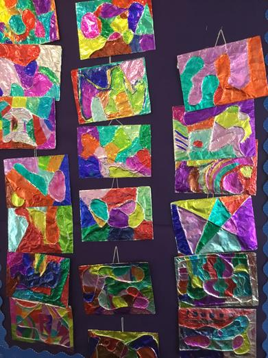 Modern art blocks created by our children