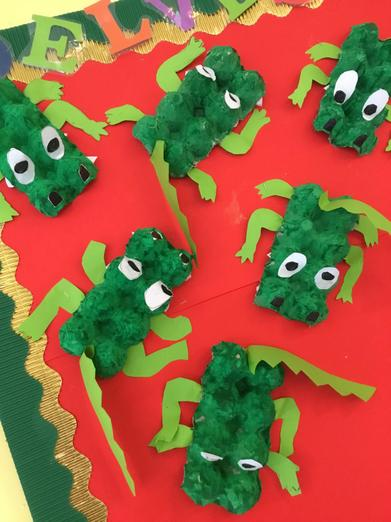 Snappy crocodiles made by our children