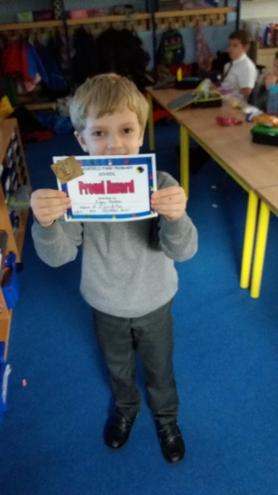 Kayn getting his PROUD certificate