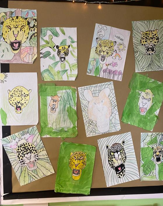 Here are a few of our Jaguar drawings that we created at the start of the year.