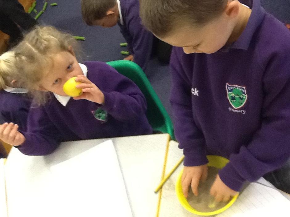 Using our senses.