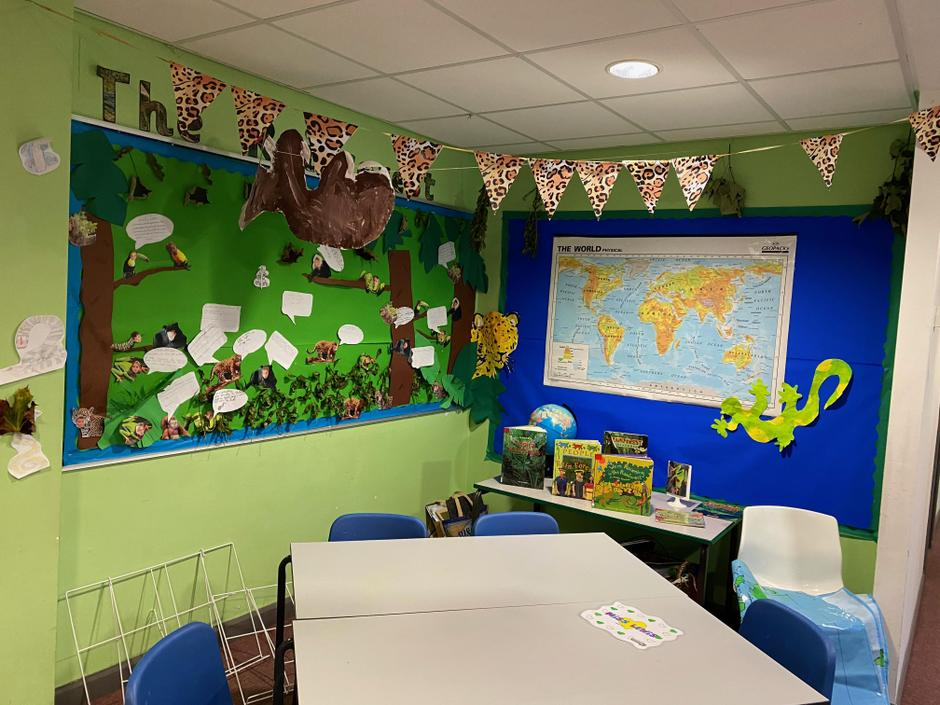 Here is a corner of our rainforest.