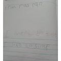 Writing sentences.