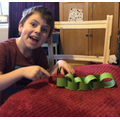 Making the Hungry Caterpillar.