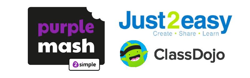 Class Dojo, J2E & Purple Mash - Our Home Learning Tools
