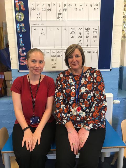 Miss Rudd (Left) & Mrs Bourne (Right)