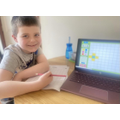 Henry working hard this week. Well done Henry!