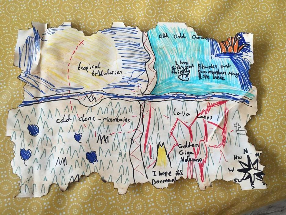 Sirus created a 'Treasure Island' map