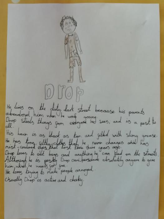 Freya wrote a fantastic character description