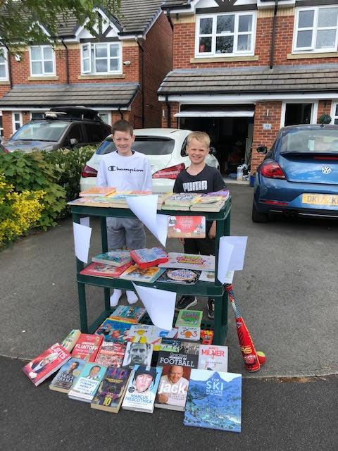 Passing on books to the community! Fab!