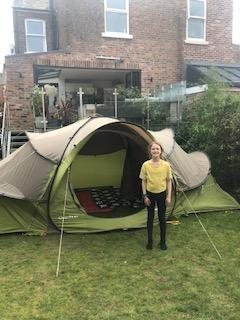 Camping in the garden in the holidays