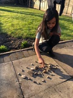 Andy Goldsworthy inspired art