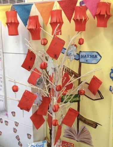 Year 2 Chinese New Year Lanterns and Wishing Tree