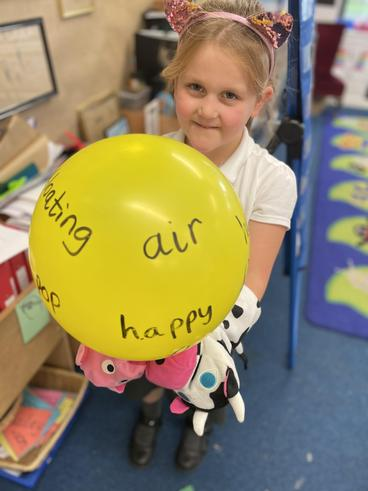 Thinking about adjectives when writing about the first hot air balloon ride