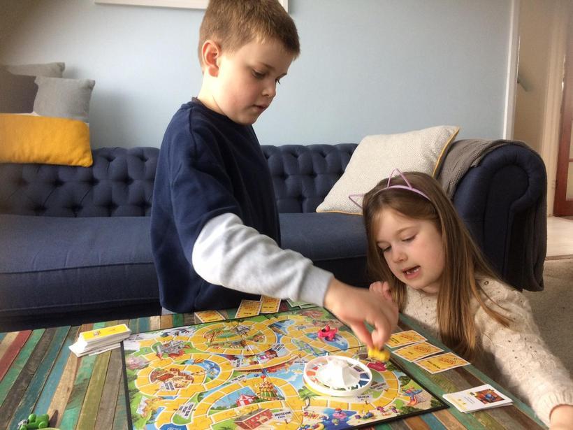 Family board game fun