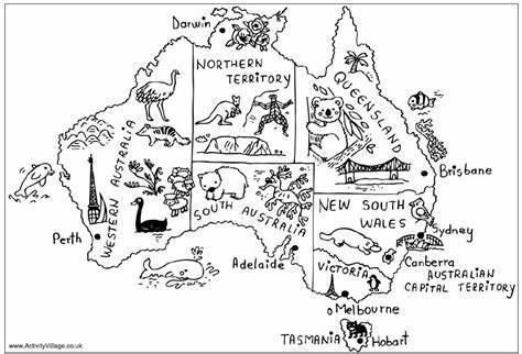 Australian map drawing idea