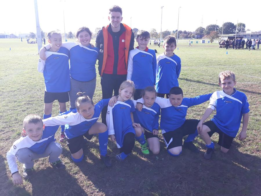 Tag Rugby Team with Mr Taylor