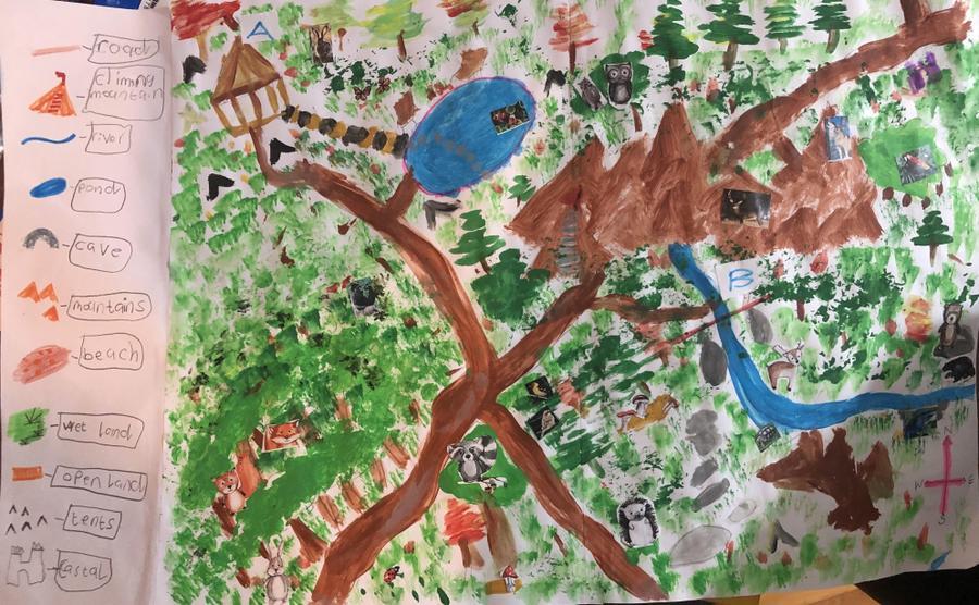 'Woodland Map' with key - Nikitha