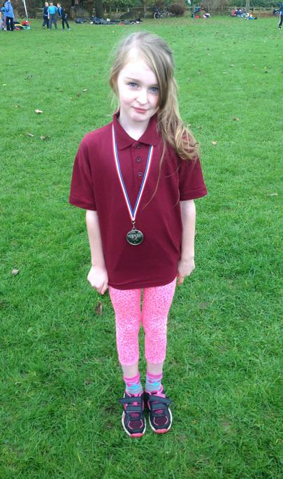 And to one of our girls who came 2nd in her race