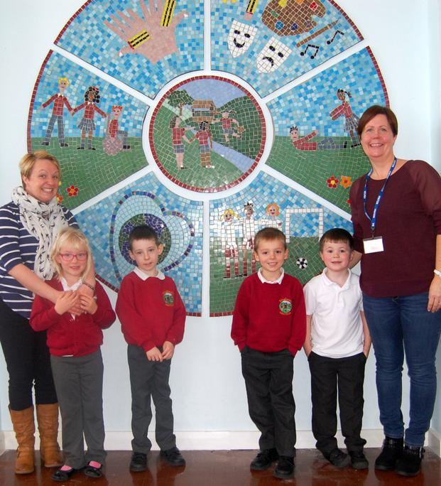 Whole school community builds a mosaic of values