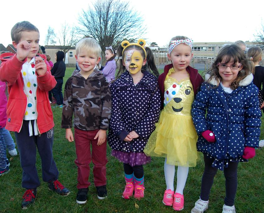 Friday's run in Children in Need costumes!