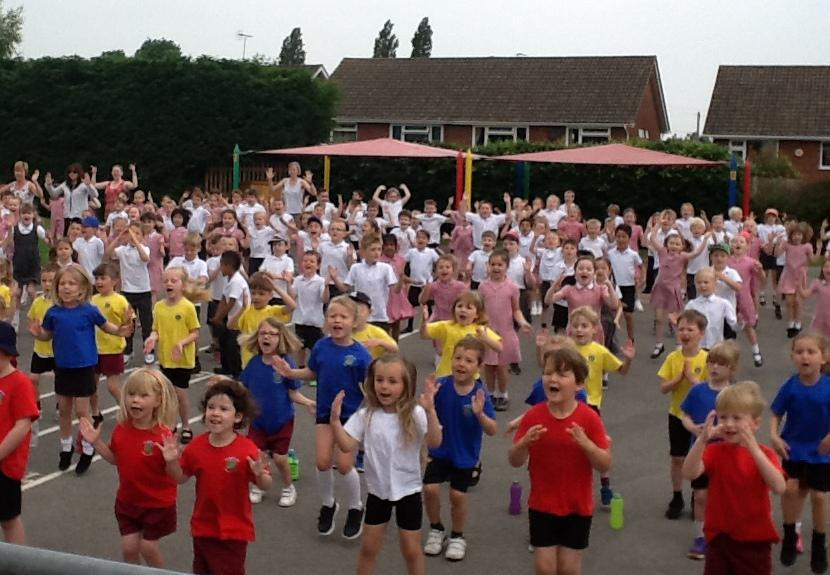 The children joined in with great enthusiasm...