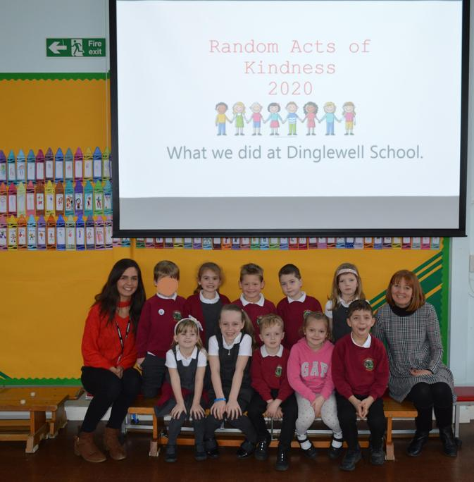 School Council assembly sharing Acts of Kindness