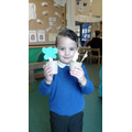 The chn enjoyed using playdough plant flowers!