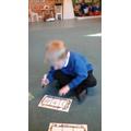Children were asked to write a range of cvc words
