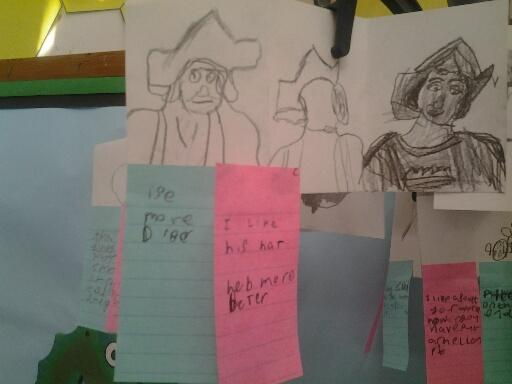 McCarly braved sketching Christopher Columbus!