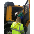 Learning about the job of a gritter