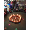 Lighting our Christingles