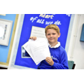 Jack with his letter from the Queen