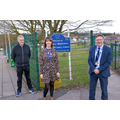 MP Lee Anderson with headteacher and CEO of SNMAT