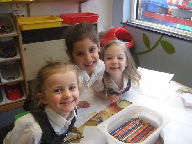 Working hard in our Reception class