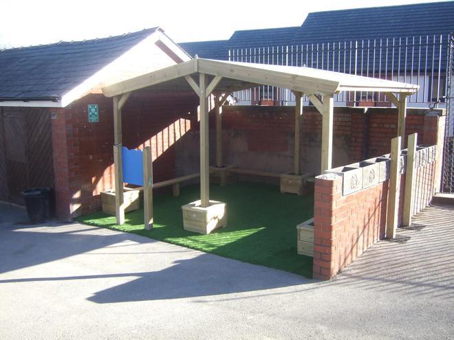 New playground shelter
