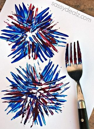 Painting with a fork