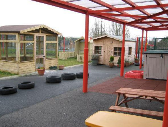 Our outside play area