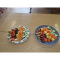 Fruit and vegetable tasting.
