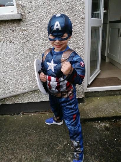 This superhero ran round his garden for 300seconds