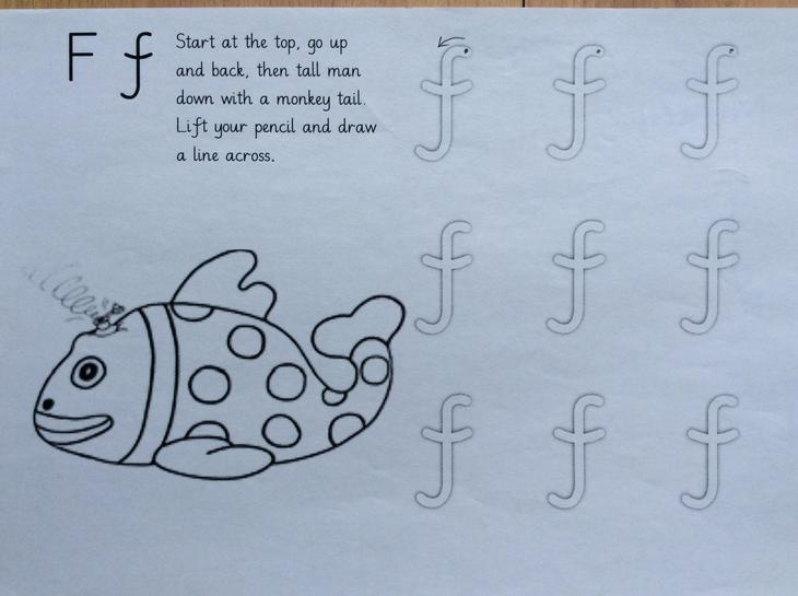 Monday: letter formation